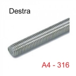BARRA FILETTATA INOX AISI 316 DESTRA - DA M5 A M10