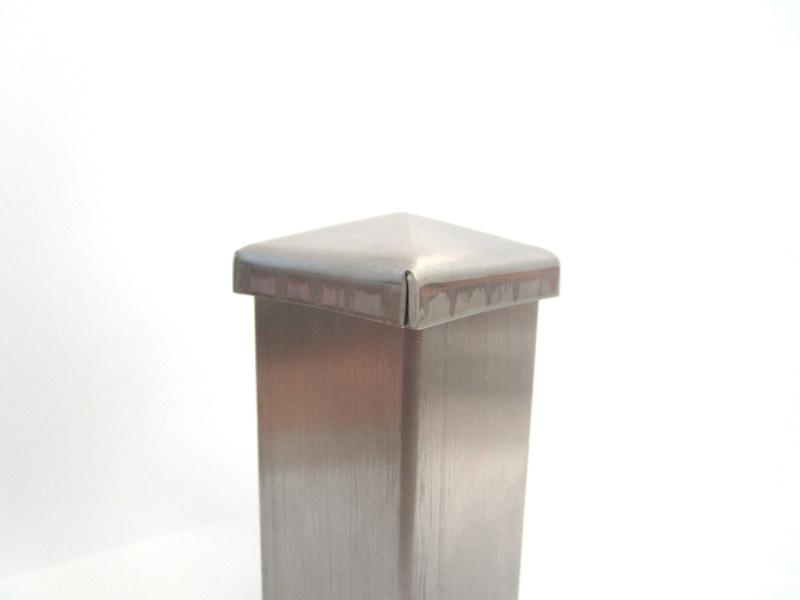 Copri pilastro quadrato in acciaio inox aisi 304 for Peso lamiera acciaio inox aisi 304