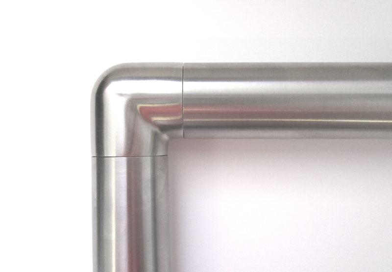 04 - Esempio di installazione CURVA 90° INOX AISI 304 SPIGOLO RAGGIATO