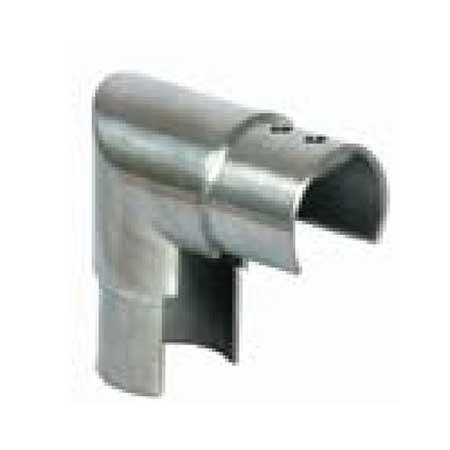 CURVA 90° VERTICALE IN ACCIAIO INOX AISI 316 PER TUBO CIRCOLARE  SCANALATO copia