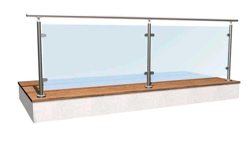 01.MONTANTE Basic vetro H10 - tipo E (estremità) - esempio di impiego