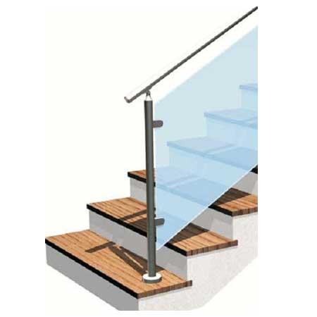01.MONTANTE Basic vetro H11 - tipo E (estremità) - esempio di impiego