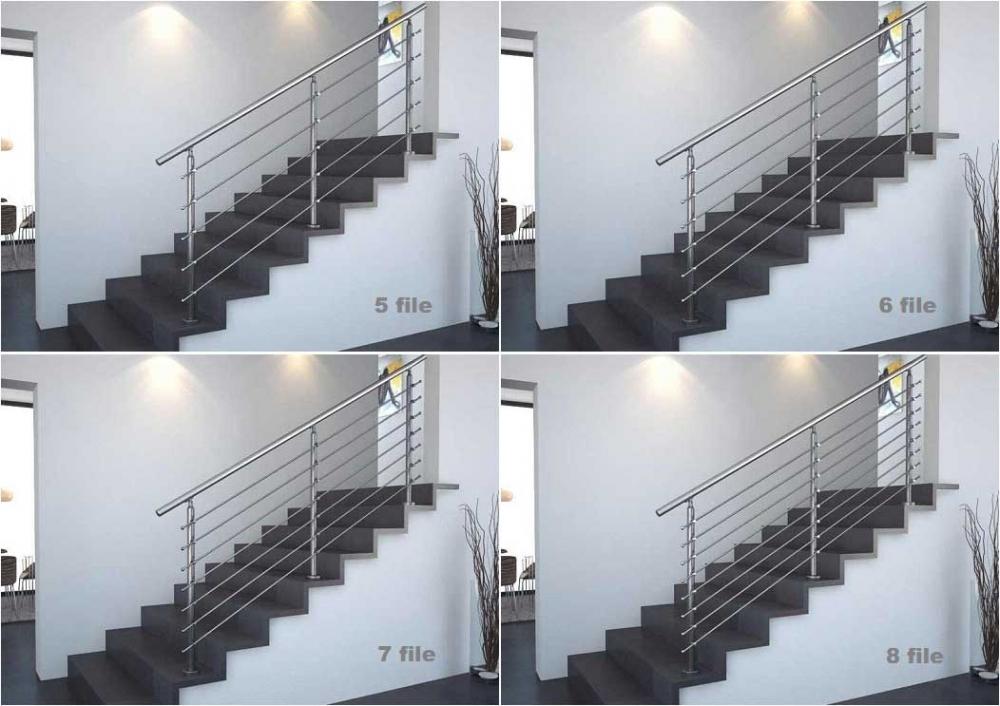 03.Colonna in tubolare Fissaggio a pavimento - Basic M015-M011 Esempi di impiego in rampa con 5,6,7 e 8 file di tondini