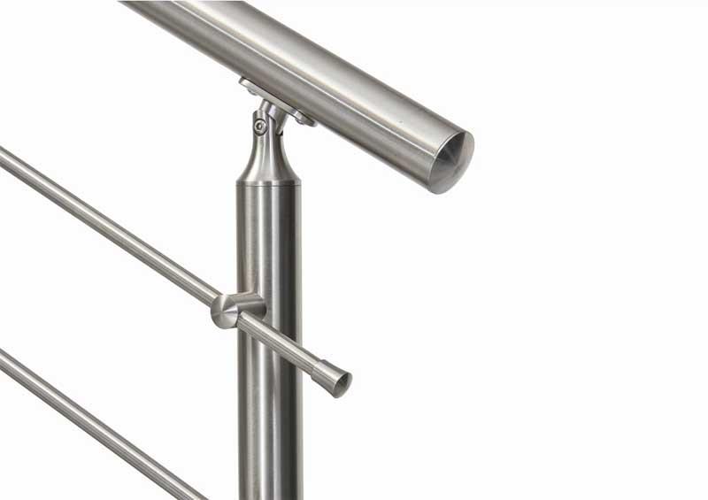 04.Colonna in tubolare Fissaggio a pavimento - Basic M015-M011. esempio di impiego.