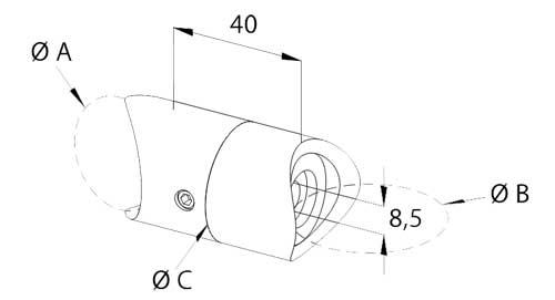 raccordo girevole tubo-tubo inox