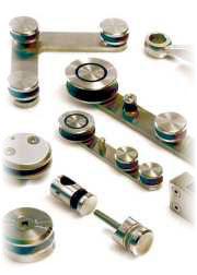 accessori inox per vetro