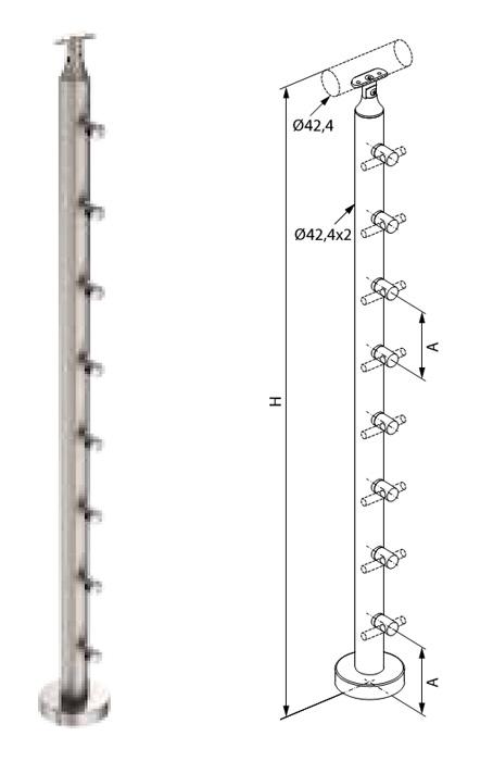 Colonna-inox-basic-pavimento