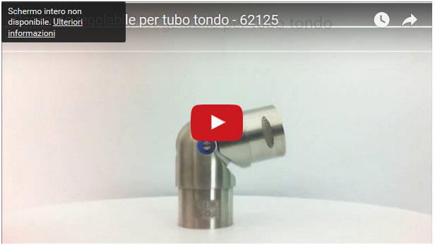 Raccordo regolabile per tubo tondo - 62125