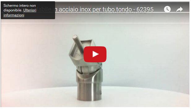 Snodo regolabile in acciaio inox per tubo tondo - 62395