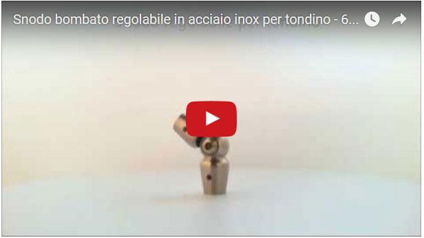 Snodo regolabile bombato in acciaio inossidabile Aisi 304 satinato