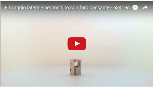 Fissaggio laterale per tondino in acciaio inossidabile Aisi 304 satinato