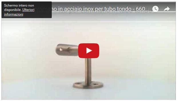 Sostegno corrimano in acciaio inox per tubo tondo - 66042
