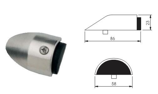 02. Misure del FERMAPORTA INOX Mod.562