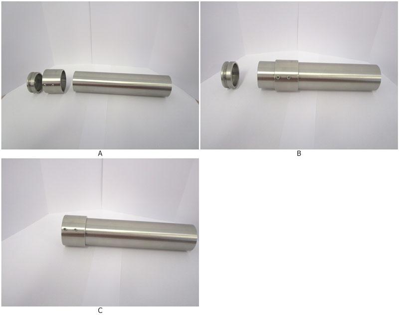 03. Montaggio del fissaggio scorrevole frontale inox per tubo