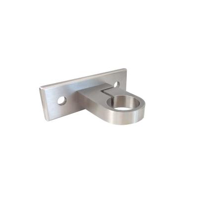 Fissaggio laterale per tubo con anello cilindrico inox aisi 304 - Piastra in acciaio inox per cucinare ...