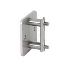 Fissaggio laterale per tubo quadro in acciaio inox satinato - Piastra in acciaio inox per cucinare ...