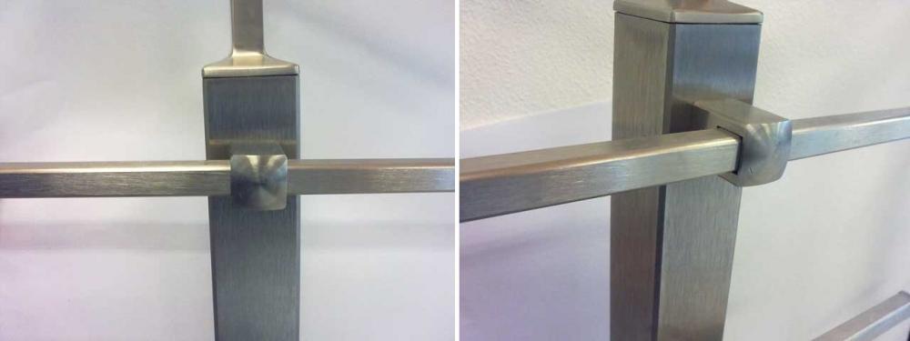 Esempio di installazione del fissaggio per tubo quadro 12*12