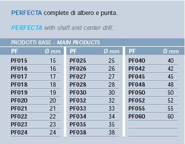 FRESA A TAZZA PER ACCIAIO INOX IN HSS RIVESTITA AL COBALTO - Diametri disponibili