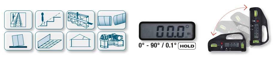 mini livella digitale con inclinometro kraftwerk. Black Bedroom Furniture Sets. Home Design Ideas
