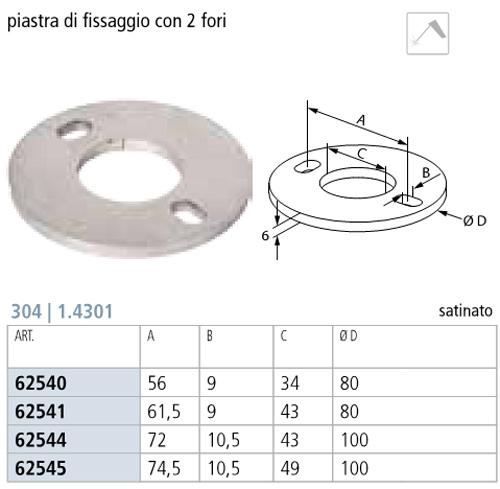 02. Quopte - PIASTRA DI FISSAGGIO INOX TONDA