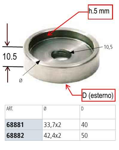 PIASTRA INOX AISI 304 PER SCALE IN LEGNO - Specifiche