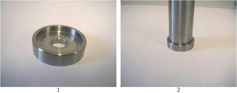 PIASTRA INOX AISI 304 PER SCALE IN LEGNO - Esempio di impiego con tubolare d.33.7