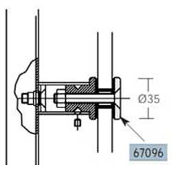 3. PIASTRA SVASATA INOX AISI 304 PER MANIGLIONE - Installazione