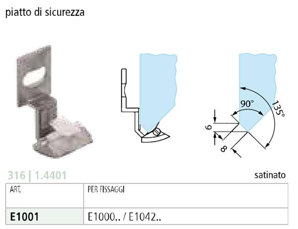 PIATTO DI SICUREZZA INOXPer morsetti: E1000.... -  E1042....