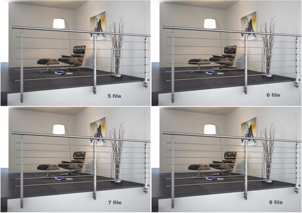 02.PARAPETTO INOX Mod.Twin Plus H13 - Esempio di installazione
