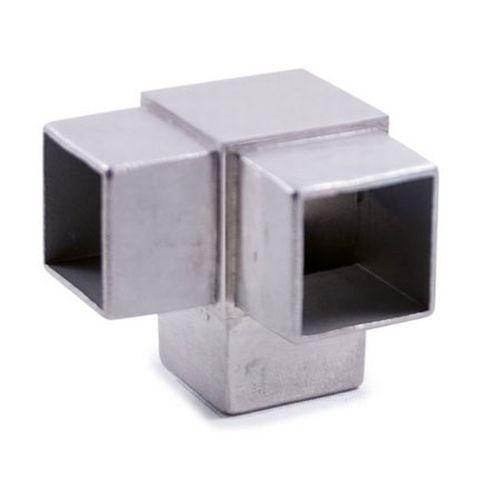 RACCORDO 3 VIE INOX AISI 316 PER TUBO QUADRO