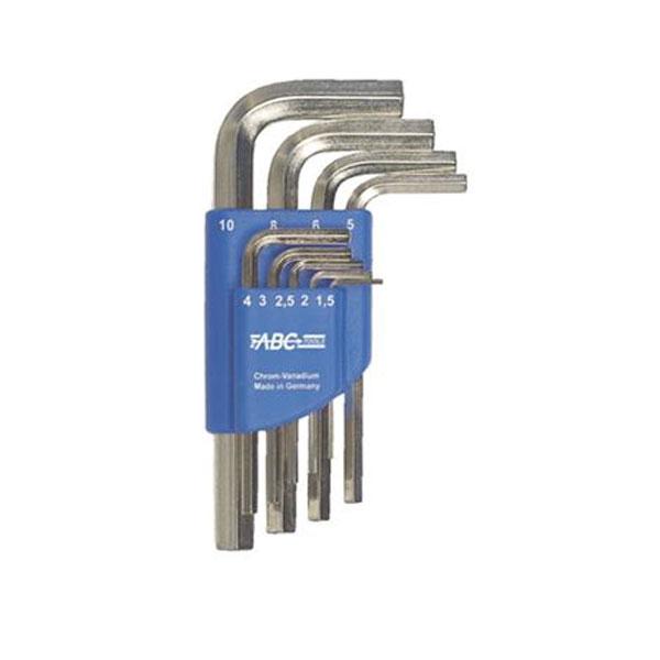 "Serie n.9 chiavi ABC maschio esagonali a "" L "" da mm. 1.5 - 10"