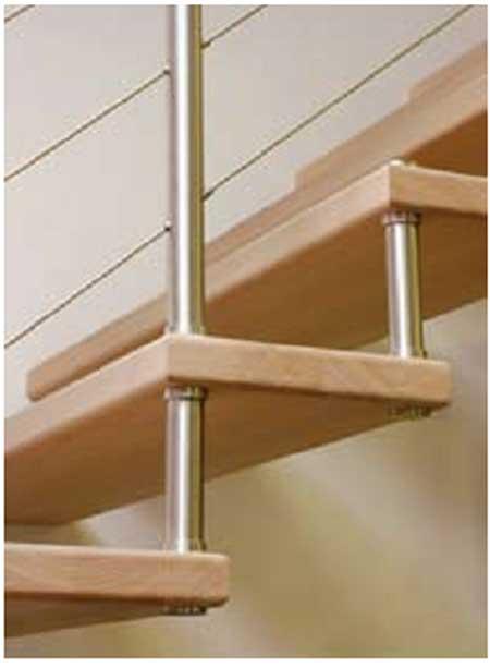 Scale per interni inox a giorno ringhiere prezzi for Profili per gradini in acciaio