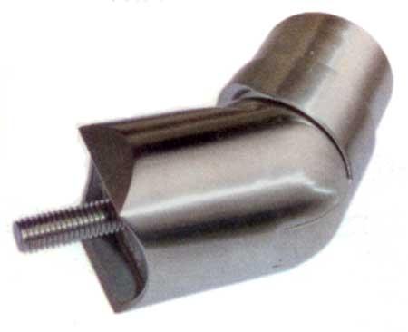 3 - SNODO INOX AISI 304 PER TUBO, REG.90-180° CON SEDE RAGGIATA