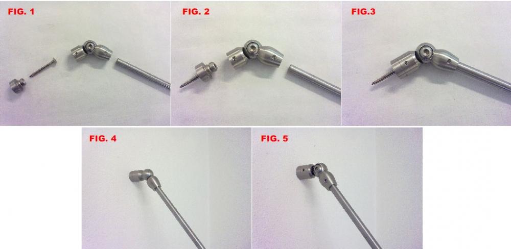 1. Ancoraggio di un tondino d.10 mm a parete/soffitto mediante l