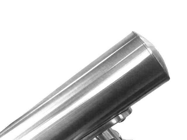 03. TAPPO INOX AISI 304 LEGGERMENTE BOMBATO - installazione su tubolare d.42.4